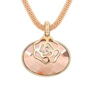 Alloy  Rose Oval necklaces  Light Coffee  7845