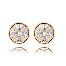 Alloy  Fourleaf flower zircon earring  White  6994