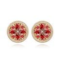 Alloy  Daisy flowers zircon earrings  White  6991