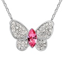Austrian imitated crystal necklace  Honey Butterfly  Light Blue  6538