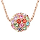 Austrian imitated crystal necklace  Colorful ball  Color + Rose Alloy  6341