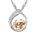 Austrian imitated crystal necklace  Looking back sweet  Green  6309