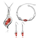 Austrian Imitated crystal Set  Angel Elf  Red water lilies  6007