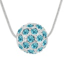 Collar de cristal imitado  Bola de colores Color 5924