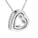 Imitated crystal Necklace  Eternal love 5871