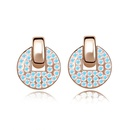 Imitated crystal Earrings  Half Moon Bay  Rose Alloy + White  5557