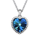 Austrian imitated crystal necklace  Heart Star  Light Blue  67