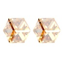 Austrian imitated crystal ear acupuncture  Water Cube  Color White  5127
