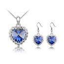Austrian Imitated crystal Set  Love life  Light Blue  4629