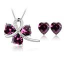 Austrian Imitated crystal Set  Happy to meet  Purple  4341