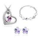 Austrian Imitated crystal Set  Romantic cherry  Purple  4323