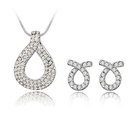 Imitated crystal Set  Love knot  White  4312