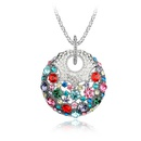 Austrian imitated crystal sweater chain  Happiness round treasure  Color  3972