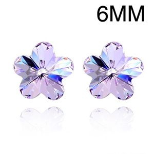 Austrian imitated crystal earrings - Romantic cherry ( Violet ) 1205