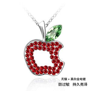 Austrian imitated crystal necklace - Ping fruit ( Olives + Light red ) 515