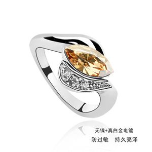 Austrian Imitated crystal Ring - Grain ( Alloy Shadow ) 508