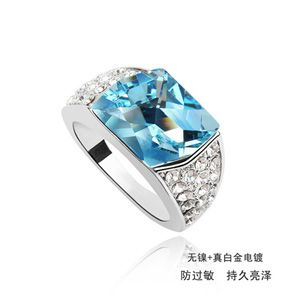 Austrian Imitated crystal Ring - Time ( Navy blue ) 316
