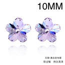 Austrian imitated crystal earrings  Romantic cherry  Violet  1210