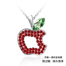 Austrian imitated crystal necklace  Ping fruit  Olives + Light red  515