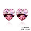 Austrian imitated crystal earrings  Heart  Olives  458