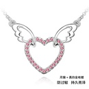 Imitated crystal Necklace  Angel Heart  Rose  125