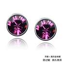 Austrian imitated crystal earrings  Cuican  Violet  44