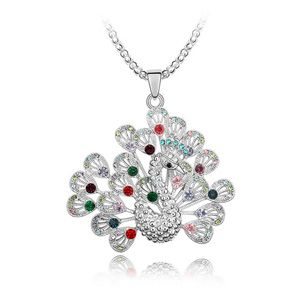 Austrian imitated crystal sweater chain  Peacock Princess  Color  3764