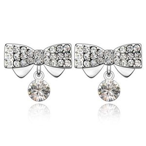 Austrian imitated crystal earrings - Meng ( White ) 2396