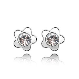 Austrian imitated crystal earrings - Meihua Luo ( White ) 2297