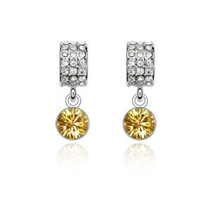 Austrian imitated crystal earrings - Crescent Bay ( Alloy ) 2248