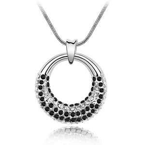 Austrian imitated crystal necklace - Moonlight Allure ( Black ) 2217