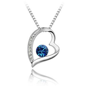 Austrian imitated crystal necklace - Forever ( Navy ) 2178
