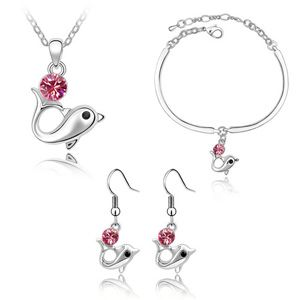 Austrian Imitated crystal Set - Dolphin Story ( Rose ) 2137
