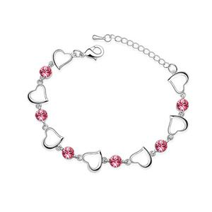 Austrian imitated crystal bracelet  Heart  Rose  1887
