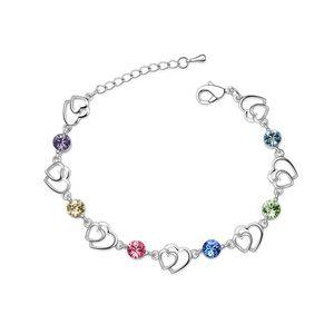 Austrian imitated crystal bracelet  Jun heart my heart  Color  1881