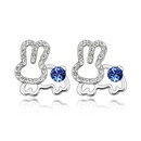 Austrian imitated crystal earrings  Rabbit  Tanzanite  2254