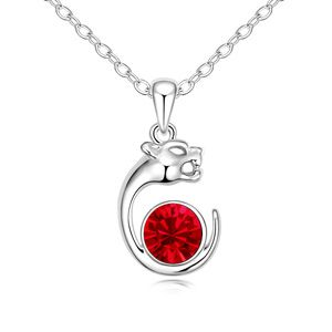 Austrian imitated crystal necklace - Cheetah ( Light red ) 11821