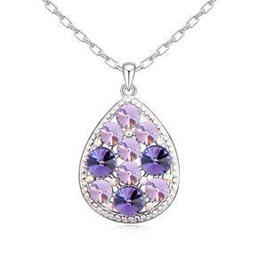 Austrian imitated crystal necklace  Quiet beauty  Tanzanite  11792