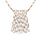 Austrian imitated crystal sweater chain  Dream boosting  Color White + Champagne Alloy  11865
