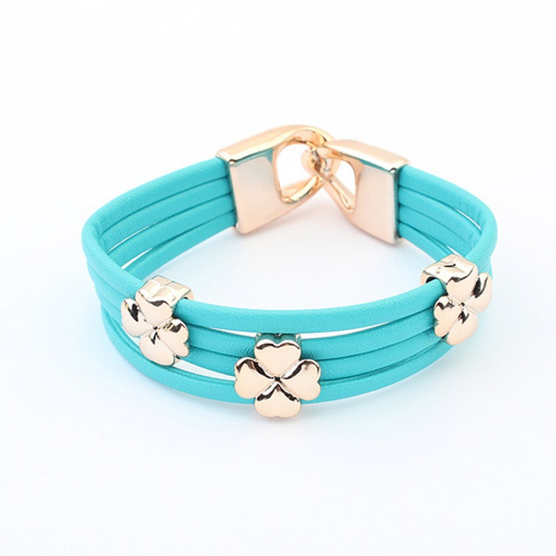 Occident tide fashion clover bracelet ( blue ) 798226