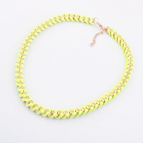 Fashion fluorescence color Mix & Match hot necklace ( yellow ) 794799
