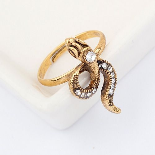 Korean unique small snake opening ring 795097