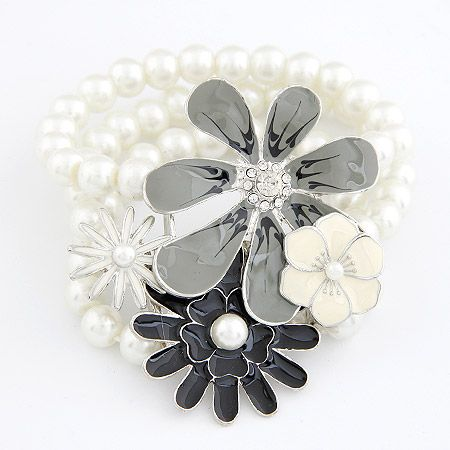 Occident fashion easy match delicate flower Beads multi-layer bracelet 207830