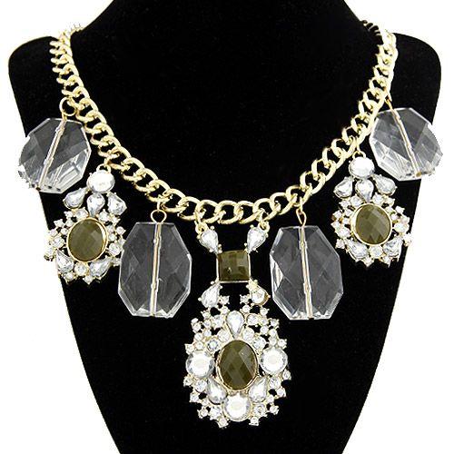 Occident fashion boast easy match big gem lucxry necklace 205980