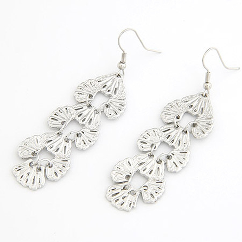 Occident fashion boast hollow out leaves earrings ( alloy ) 205969