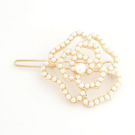 EXQUISITE full Beads unique rose barrette 205829
