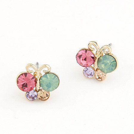 EXQUISITE gem cute unique butterfly ear studs 205801