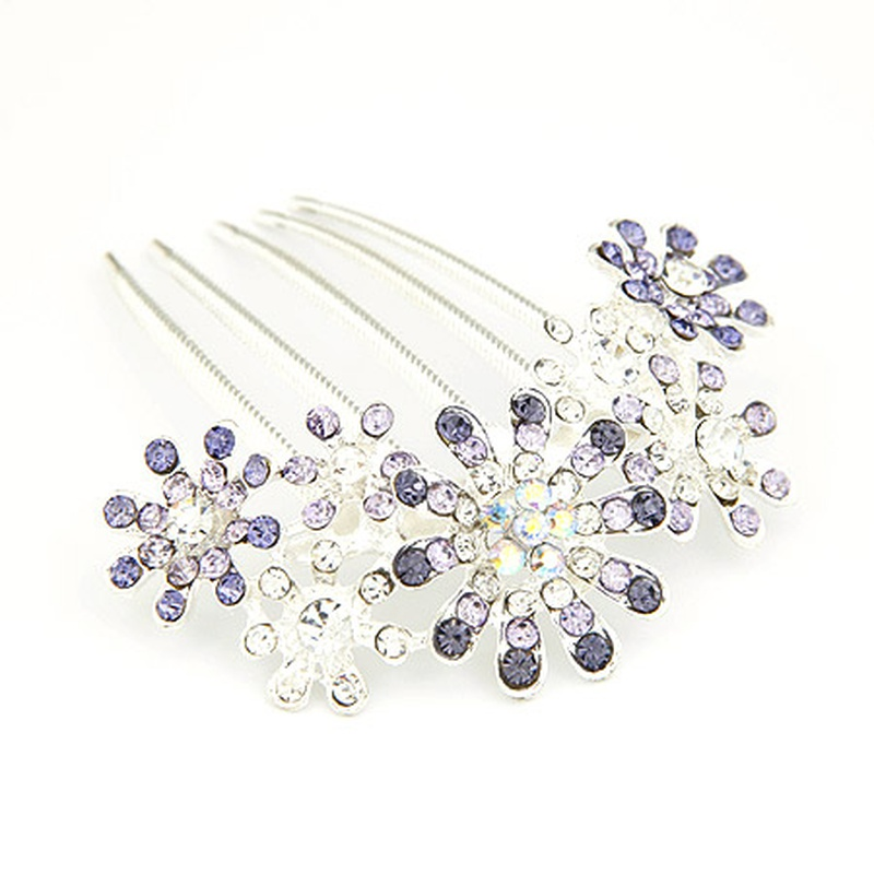 Gem embedded luxury petal hair accessories 203969