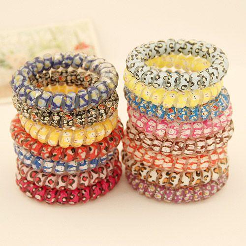 ( 1unit price ) large size spiral scrunchies ( random color ) 202929