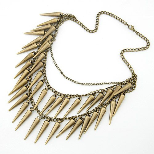 Occident fashion spike multi-layer necklace 201690
